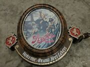 Vintage 1070s Strohs Beer Working Light Up Sign 18 By 20