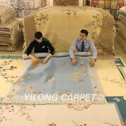 Yilong 6and039x9and039 Traditional Hand Knotted Chinese Art Deco Wool Rug Woolen Carpets