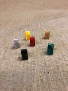Catalin Or Bakelite Style Plastic Building Or Chess Rook Game Pieces 6 Count