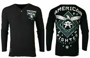 American Fighter Menand039s Thermal Abraham L/s Henely Athletic Biker