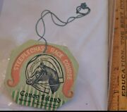 Rare 1900 Steeplechase Park Race Course Coney Island String Tag Ticket Nyc