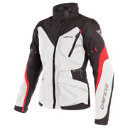 Women's Jacket Motorcycle Dainese Tempest 2 Lady D-dry Light Gray Black Red 46