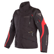 Motorcycle Jacket Dainese Tempest 2 D-dry Black Red Size 46 Jacket