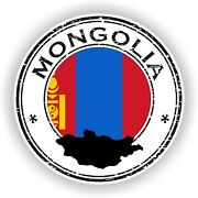 Sticker Of Mongolia Stamp For Bumper Travel Laptop Tablet Suitcase Hollidays