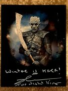 Richard Brake As The Night King Signed Photograph With Proof- Game Of Thrones