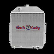 3 Row Aluminum Radiator Fit 1942-1952 Ford F1 F2 F3 Pickup Truck Chevy Engine