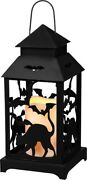 New Halloween Lighted Cat And Bat Lantern Vintage/primitive/house Decor/candle