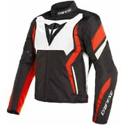 Jacket Motorcycle Dainese Edge Tex N32 Black White Red Size 46