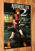 Resident Evil 2 / Gex Enter The Gecko Very Rare Poster 58x41cm Ps1 Gamecube N64