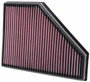 Kandn 33-2942 For Bmw X1 E84 Washable Reusable High Flow Drop In Panel Air Filter