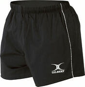 Gilbert Match Rugby Shorts Mens Gym Team Fitness Black, Size Small