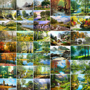 Diy Natural Scenery Paint By Number Kit Oil Painting Canvas Art Wall Home Decor