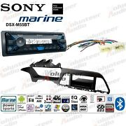 Sony Dsx-m55bt Single Din No Cd Player Car Radio Stereo Install Kit