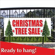 Christmas Tree Sale Banner Vinyl / Mesh Banner Sign Many Sizes Xmas Holiday