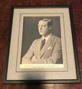 Rare Of Wales / King Edward Viii Framed And Matted Photograph November 1932