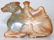 Chinese Jade Carving Of A Reclining Buffalo With Boy On Its Back For Charity