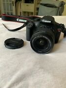 Canon Eos Rebel T5 Camera 18-55mm Macro Zoom Lens And Accessories