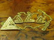 14kt 585 Gold Jewelry Set With 073ct Brilliant Decorations / Chain +ring And