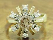 14kt 585 Bicolour Gold Ring With 134ct Brilliant Decorations/ Diamond/ 74g/ Rg