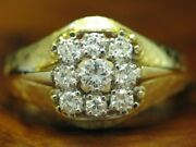 18kt 750 Bicolour Gold Ring With 066ct Brilliant Decorations/ Diamond/ 67g/ Rg