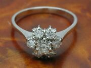 18kt 750 White Gold Ring With 086ct Brilliant Decorations/ Diamond/ 34g/ Rg