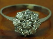 14kt 585 White Gold Ring With 100ct Brilliant Decorations/ Diamond/ 31g/ Rg