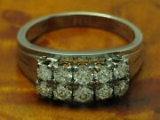 14kt 585 White Gold Ring With 100ct Brilliant Decorations/diamond/59 G / Rg