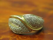 14kt 585 Yellow Gold Ring With 117ct Diamond Decorations/92g/ Rg 625