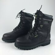 John Deere Mens 8.5 Waterproof Thinsulate Leather Lace Up Work Boot New