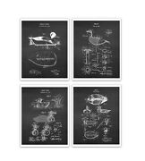 Duck Decoys Patent Art Prints Set Of 4 Unframed Hunting Decor Gift For Hunters