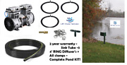 New Fish And Lake Pond Aerator System W/ 3-diffusers 200' Tube +cabinet 1/2hp Pump