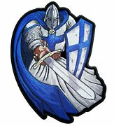 Knight Warrior Templar Embroidered Patch Large 8.8 X 12 Back Biker Patch
