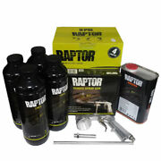Upo 820v Black Spray On Raptor Bed Liner Kit With Free Spray Gun