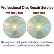 800 Game Disc Repair Service -resurface Ps1 Ps2 Ps3 Ps4 Xbox 360 Cube Wii Cd Dvd