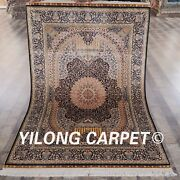 Yilong 4and039x6and039 Classic Handcraft Area Rugs Handmade Quality Silk Carpet Sale Q06a