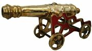 Large Marine Brass Cannon With Stand Andndash Best Collection Andndash Heavy - Rare 5001