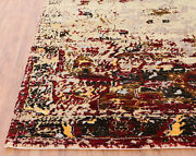 Old Design Herize 5and0397 X 7and03910 Hand Knotted Orienta Parsian Silk And Wool Area Rug