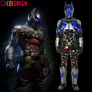 Batman Arkham Knight Deluxe Leather Outfit Cosplay Costume Custom Made Lot