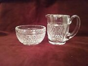 Matching Waterford Crystal Creamer And Open Sugar Bowl. Giftware/alana. Nice.