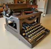 Vintage Lc Smith And Corona 10 Carriage Standard Manual Typewriter Brown Unmarked