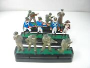 Diecast Toy Soldiers Vintage Blue Box With Holder Military War Models