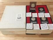 Rare 1971-80 Franklin Mint Sterling 40 Silver Round Medal Christmas Holiday Coa