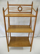 Antique Solid Oak Stick And Ball Open Bookshelf Bookcase Display Stand Victorian