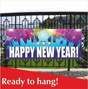 Happy New Year Advertising Banner Vinyl / Mesh Banner Sign Home Decoration Party