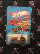 1982 Hot Wheels Jeep Cj-7 No. 3259 Brown Unpunched Card