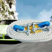 23 Feet 5tons Recovery Ropetowing Rope Tow Rope Kinetic Rope W U Hooks 067-4