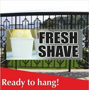 Fresh Shave Advertising Vinyl Banner /mesh Banner Sign Flag Snow Cones Shave Ice