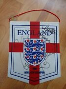 Classic England World Cup 1966 Champions Football Pennant Inc 6 Signatures