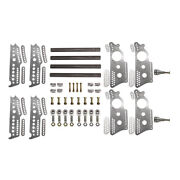 Extreme Pro Series 4-link Kit 13 Notched Chassis Brackets Adj. 3/4 Shock Mt.