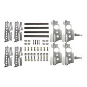 Extreme Pro Series 4-link Kit, 13 Notched Chassis Brackets, Adj. 3/4 Shock Mt.